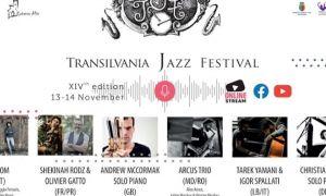 PROGRAM. Transilvania Jazz Festival se ține în ONLINE pe 13 și 14 noiembrie