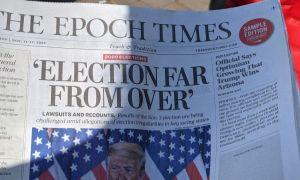 """Donald Trump, pe cale de a prelua al doilea mandat de președinte. The Epoch Times: """"Alegerile sunt departe de a se fi terminat!"""""""
