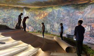 """VIETNAM. Cea mai mare pictură panoramică din lume, """"Bătălia de la Dien Bien Phu"""", ocupă o suprafață de peste 3.200 mp"""