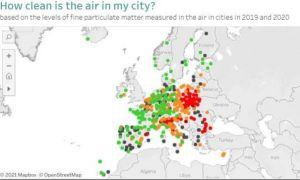 București - locul 263 din 323 de oraşe europene, într-un clasament privind calitatea aerului. Unde este cel mai curat aer din Uniunea Europeană