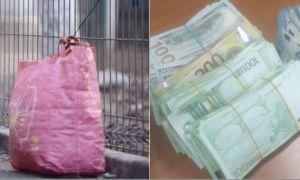 DETALII despre banii găsiţi într-o sacoşă de rafie la Piața Romană din București