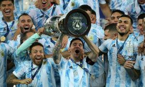 Leo Messi, primul trofeu cu naționala Argentinei.