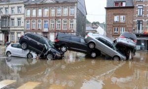 INUNDAȚII devastatoare în Belgia: Patru oameni au murit, traficul rutier e blocat