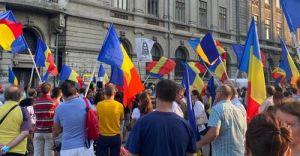 George Simion, MESAJ pentru Dan Barna de la protestul împotriva RESTRICȚIILOR pentru nevaccinați