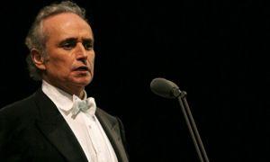 Celebrul tenor José Carreras concertează pe 6 septembrie în România