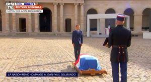 Macron, TRIBUT EMOȚIONANT adus lui Jean-Paul Belmondo, la funeraliile de la Paris
