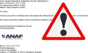 """Avertisment din partea ANAF: """"Nu deschideți aceste mesaje"""""""