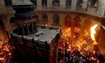 VIDEO LIVE Lumina Sfântă a fost aprinsă la Ierusalim