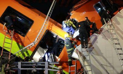 Cel puțin 15 morți și 70 de răniți după prăbușirea unui tren de metrou la Ciudad de Mexico